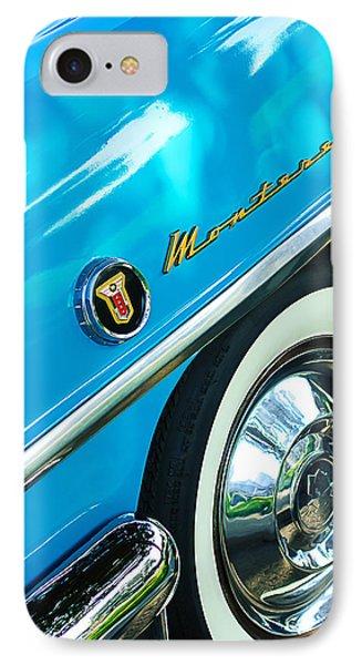 1955 Mercury Monterey Wheel Emblem Phone Case by Jill Reger