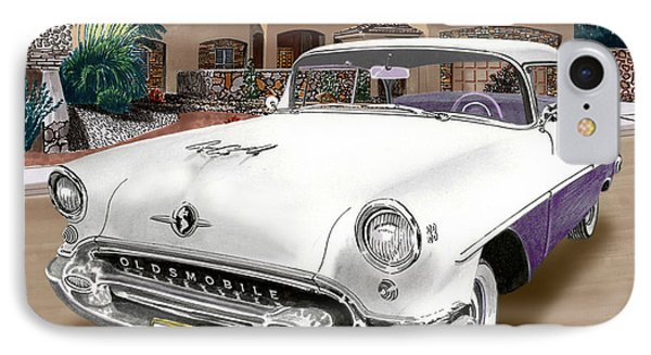 1955 Oldsmobile Super 88 IPhone Case by Jack Pumphrey