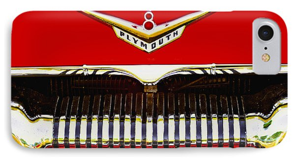 IPhone Case featuring the photograph 1955 Plymouth P27 Convertible by Trey Foerster