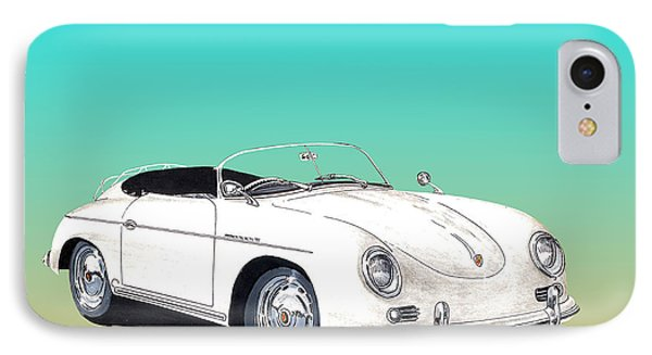 1955 Porsche Speedster Rhd Phone Case by Jack Pumphrey