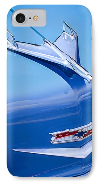 1956 Chevrolet 210 2-door Handyman Wagon Hood Ornament - Emblem Phone Case by Jill Reger