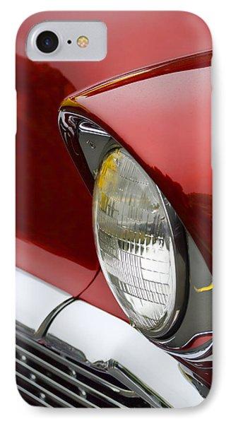 1956 Chevrolet Headlamp IPhone Case by Carol Leigh