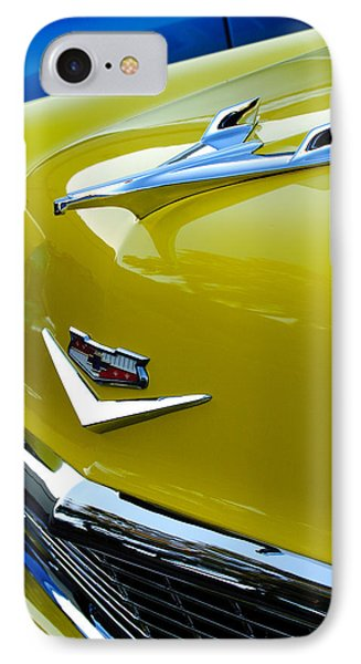 1956 Chevrolet Hood Ornament 3 Phone Case by Jill Reger
