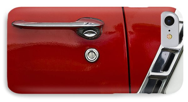 1956 Chevy Door Detail Phone Case by Carol Leigh