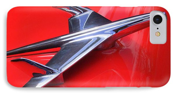 1956 Chevy Hood Ornament Phone Case by Mary Deal