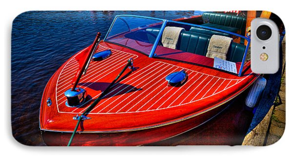 1956 Chris-craft Capri Classic Runabout IPhone Case by David Patterson