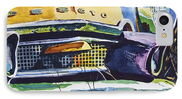 1956 Desoto Abstract Phone Case by Rick Mock