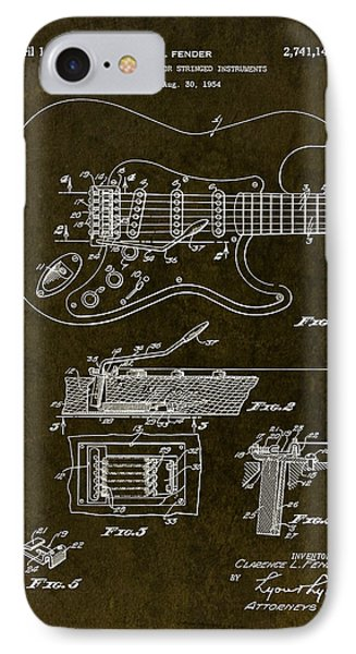 1956 Fender Tremolo Patent Drawing II IPhone Case