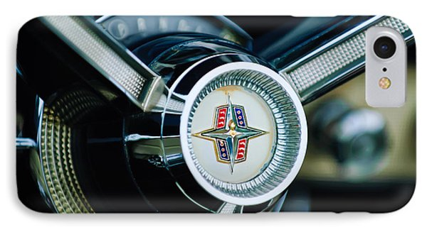 1956 Lincoln Continental Mark II Hess And Eisenhardt Convertible Steering Wheel Emblem IPhone Case by Jill Reger
