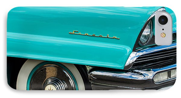 1956 Lincoln Priemere Emblem -0792c IPhone Case