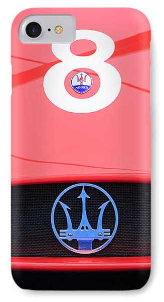 1956 Maserati 150s Grill Emblem - The Beels Racing Team Phone Case by Jill Reger