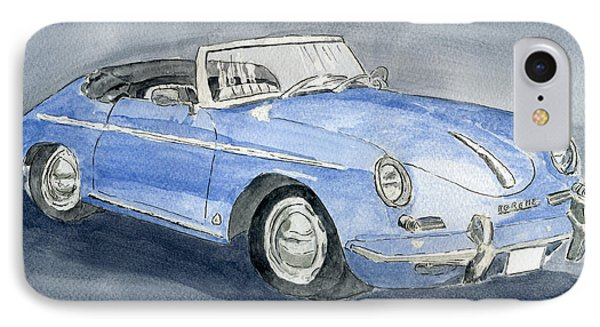 1956 Porche 356b Roadster IPhone Case by Eva Ason