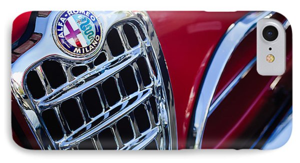 1957 Alfa-romeo 1900c Super Sprint Grille Emblem IPhone Case by Jill Reger