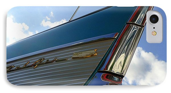 IPhone Case featuring the photograph 1957 Chevrolet Bel Air Fin by Joseph Skompski