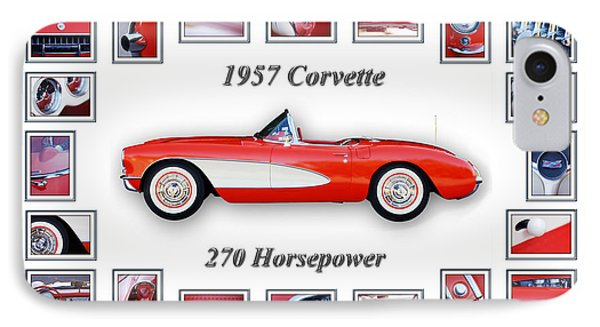1957 Chevrolet Corvette Art IPhone Case by Jill Reger