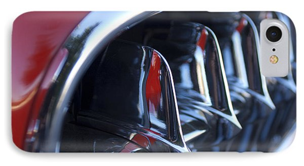 1957 Chevrolet Corvette Grille Phone Case by Jill Reger
