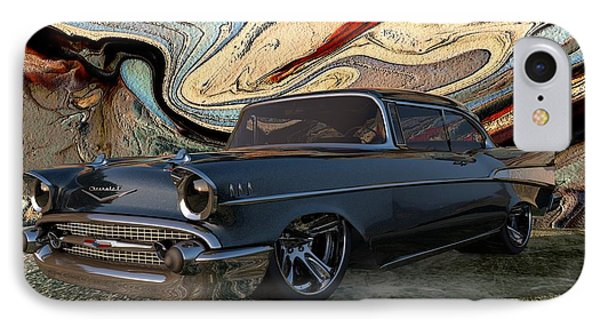 1957 Chevy Bel Air IPhone Case by Louis Ferreira