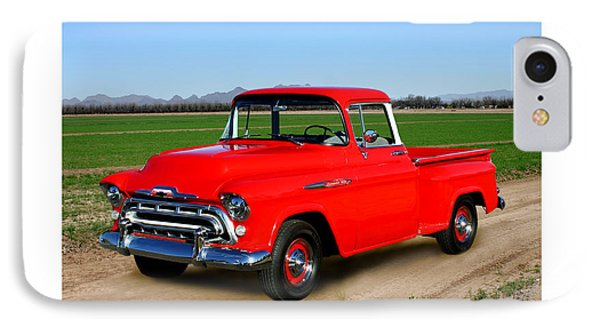 1957 Chevrolet 3100 Pick Up Truck IPhone Case by Jack Pumphrey