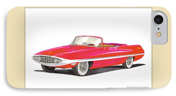1957 Chrysler Diablo Convertible Coupe IPhone Case by Jack Pumphrey
