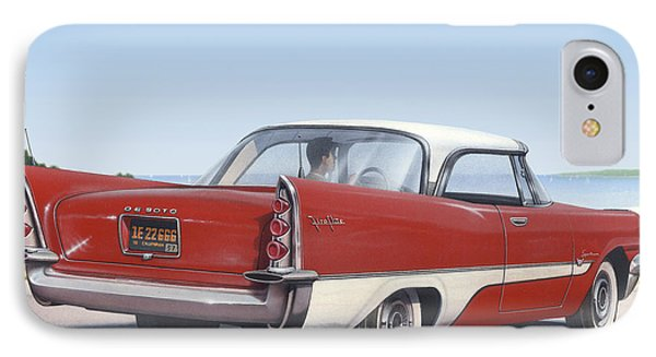 1957 De Soto Blank Greeting Card IPhone Case by Walt Curlee