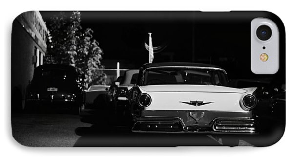 1957 Ford Noir IPhone Case by Laura Fasulo