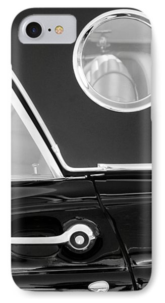 1957 Ford Thunderbird Window Black And White Phone Case by Jill Reger