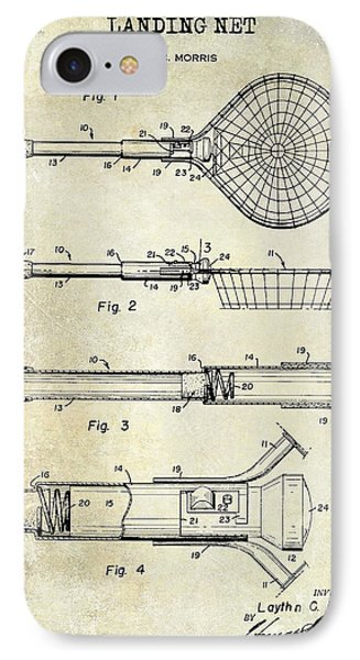 1957 Landing Net Patent Drawing IPhone Case