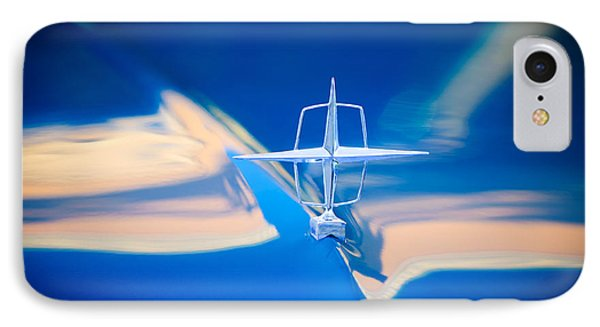 1957 Lincoln Continental Hood Ornament Phone Case by Jill Reger