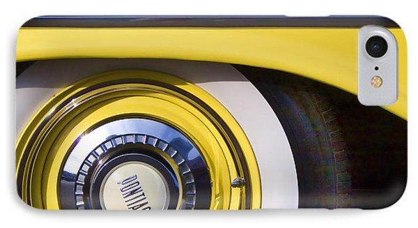 1957 Pontiac Starchief Wheel Cover Phone Case by Carol Leigh