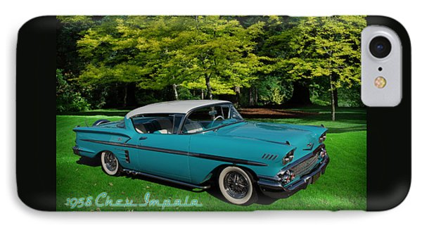 1958 Chev Impala IPhone Case by Richard Farrington