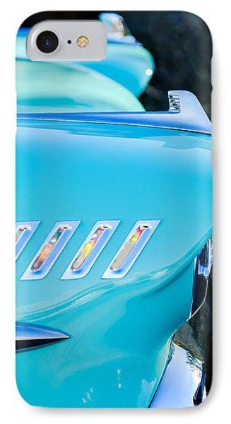 1958 Chevrolet Belair Hood Ornament Phone Case by Jill Reger