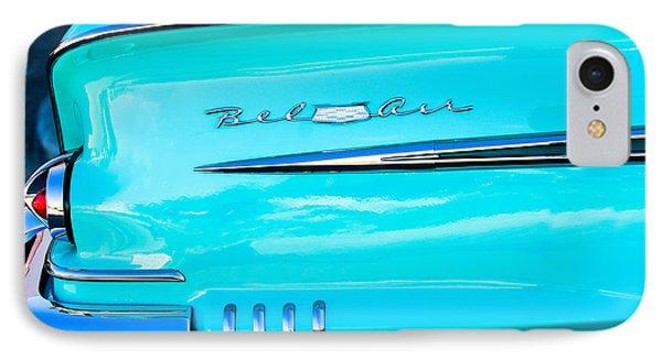 1958 Chevrolet Belair Tail Emblem Phone Case by Jill Reger