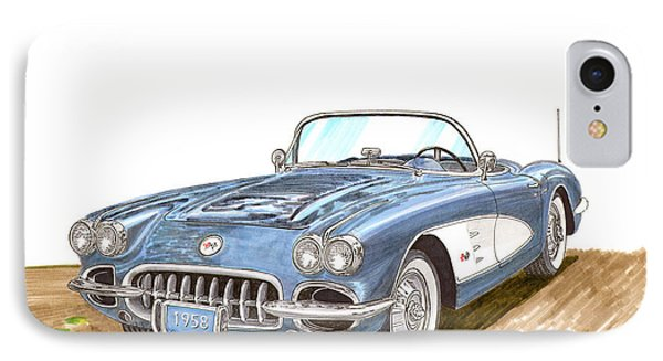 1958 Corvette Roadster IPhone Case