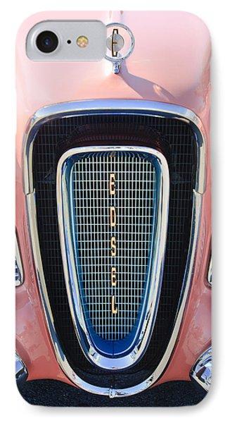 1958 Edsel Pacer Grille Emblem IPhone Case by Jill Reger