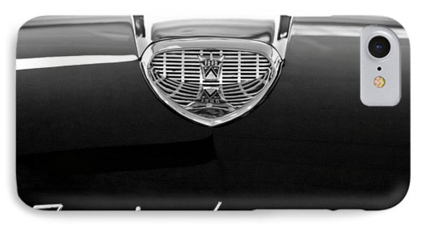 1958 Ford Fairlane 500 Victoria Hood Emblem Phone Case by Jill Reger
