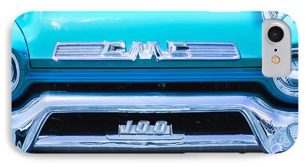 1958 Gmc Series 101-s Pickup Truck Grille Emblem IPhone Case by Jill Reger