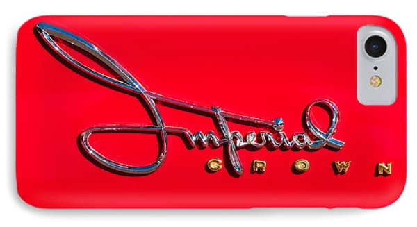 1958 Imperial Crown Convertible Emblem Phone Case by Jill Reger