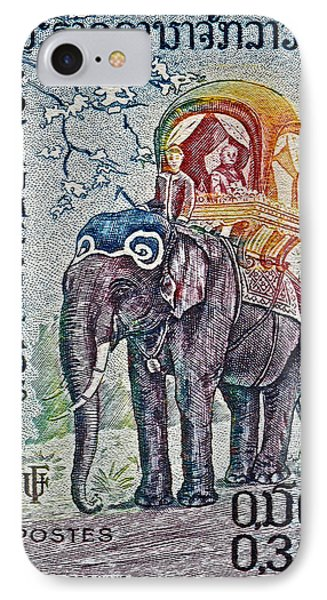 1958 Laos Elephant Stamp IPhone Case