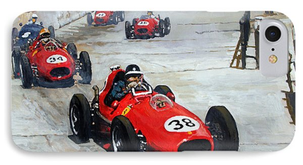 1958 Monaco Gp  IPhone Case by Yuriy Shevchuk