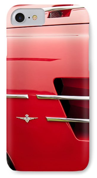 1958 Pegaso Z-103 Touring Berlinetta Side Emblem -1195c IPhone Case by Jill Reger
