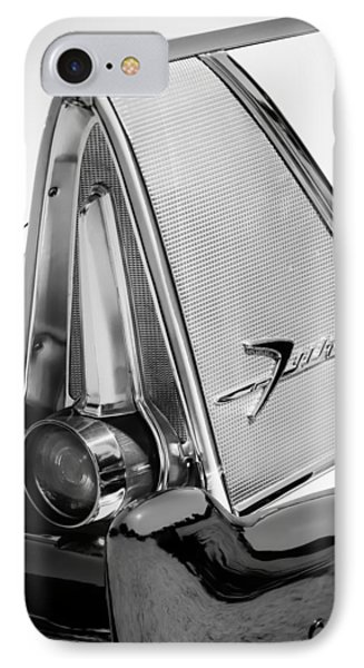 1958 Plymouth Fury Golden Commando Taillight Emblem -3467bw IPhone Case by Jill Reger