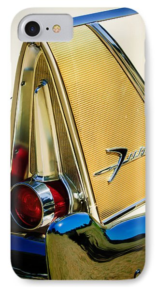 1958 Plymouth Fury Golden Commando Taillight Emblem -3467c IPhone Case by Jill Reger