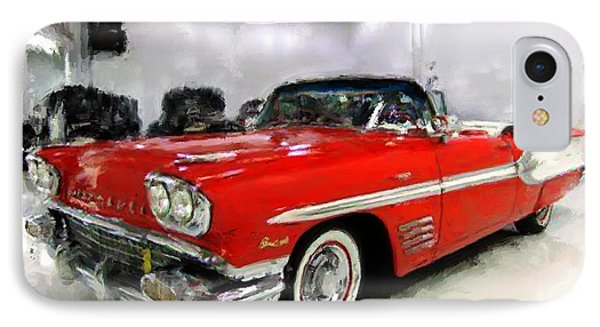 IPhone Case featuring the painting 1958 Pontiac Bonneville Convertible by Robert Smith