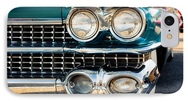 1959 Cadillac Sedan Deville Series 62 Grill IPhone Case by Jon Woodhams