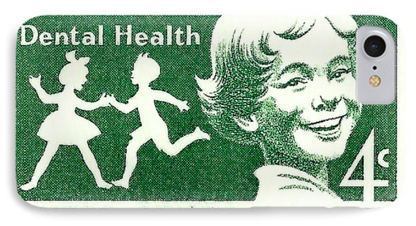 1959 Dental Health Postage Stamp IPhone Case by David Patterson