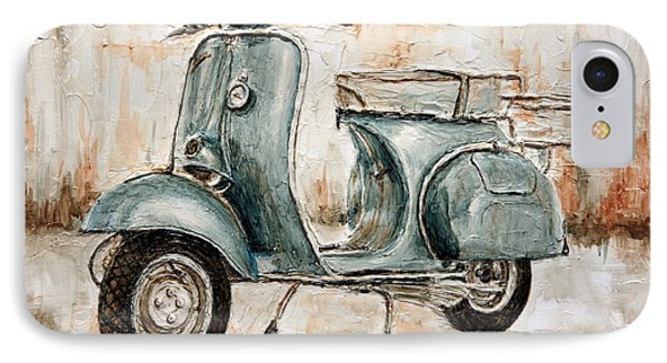 1959 Douglas Vespa IPhone Case by Joey Agbayani