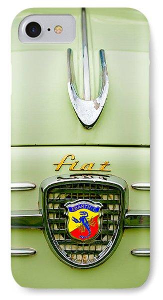 1959 Fiat 600 Derivazione 750 Abarth Hood Ornament Phone Case by Jill Reger