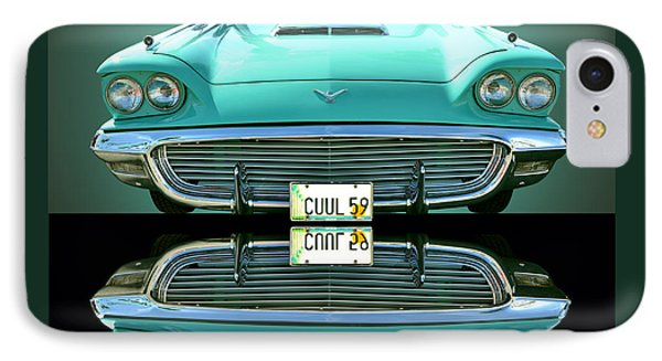 1959 Ford T Bird IPhone Case by Jim Carrell