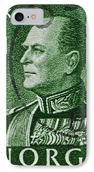 1959 King Olav V Norway Stamp - Oslo Postmark Phone Case by Bill Owen