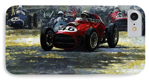 1959 Monaco Gp  #46 Ferrari D246 Jean Behra IPhone Case by Yuriy Shevchuk
